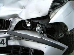 Dopravní nehoda osobního auta u Želenic