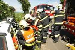 Dopravní nehoda u obce Havraň