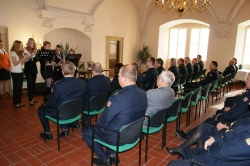 Udělení medailí Hasičského záchranného sboru ČR - Za věrnost