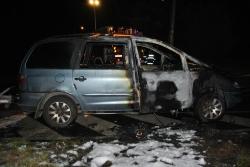 Otevření bytu a požár osobního auta