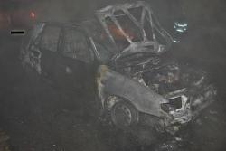 Požár auta v Braňanech