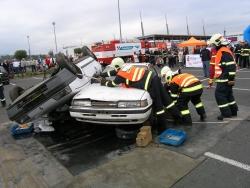 Krajské kolo soutěže ve vyprošťování zraněných osob z havarovaných vozidel